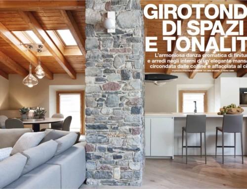 Girotondo di spazi e tonalità interior designer Turra Cristian